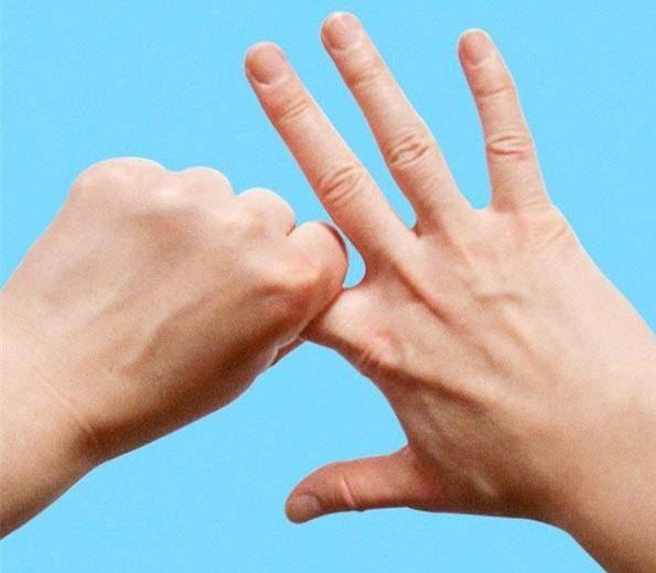 Động tác kéo ngón tay