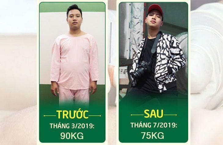Thành Trung đã giảm thành công 15kg mỡ thừa nhờ cấy chỉ Đông phương Y pháp