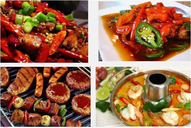 thức ăn cay nóng
