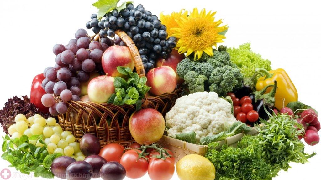 Bổ sung thường xuyên các loại trái cây và rau xanh mỗi ngày