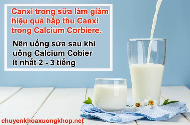 Calcium Corbiere uống chung với sữa có được không?
