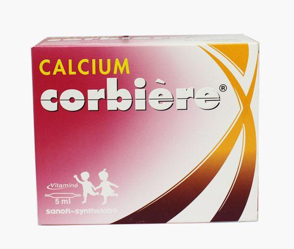 calcium corbiere 5ml dạng ống của Pháp - calcium corbiere cho trẻ em