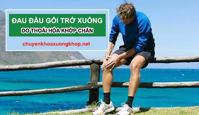 Thoái hóa khớp gối gây đau nhức chân từ đầu gối trở xuống - chữa nhức mỏi chân