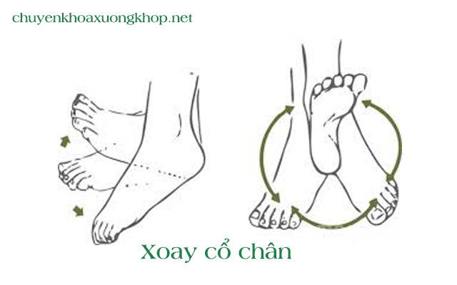 Xoay cổ chân - Bài tập vật lý trị liệu khớp háng sau phẫu thuật
