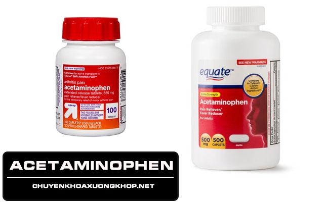 Acetaminophen - Thuốc dành cho người đau mỏi vai gáy