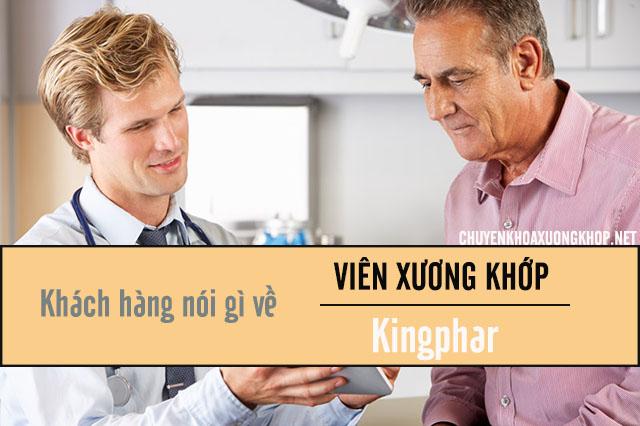 Phản hồi của khách hàng về viên xương khớp Kingphar