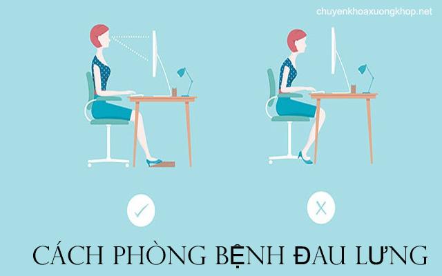 Cách phòng bệnh đau lưng hiệu quả cho ai hay ngồi nhiều
