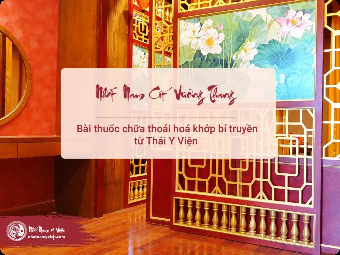 Bài thuốc Nhất Nam Cốt Vương Thang chữa thoái hóa khớp
